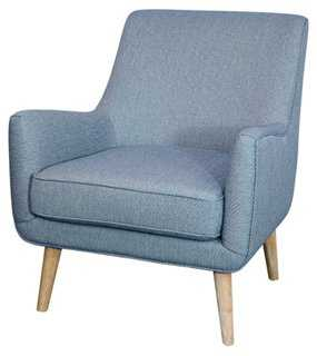 Chloe Accent Chair, Light Blue - One Kings Lane