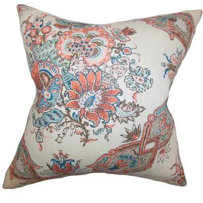 Laelia Floral Linen Throw Pillow by The Pillow Collection - Wayfair