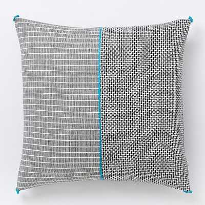 """Bracket Grid Pillow Cover - 24"""" x 24"""" - Insert not included - West Elm"""