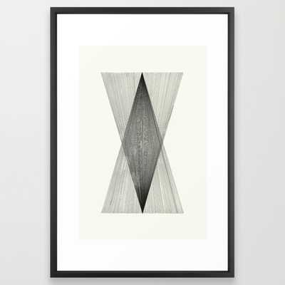 """Intersect - 26"""" x 38"""" - vector black frame - Society6"""
