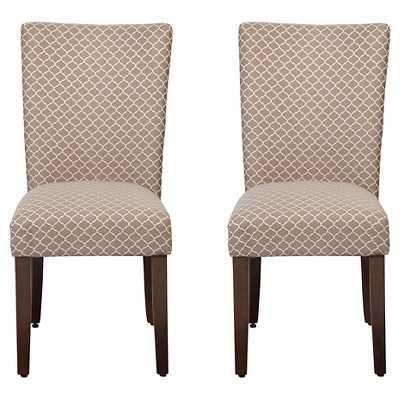 HomePop Parson Dining Chair Brown Mini Geo - Target