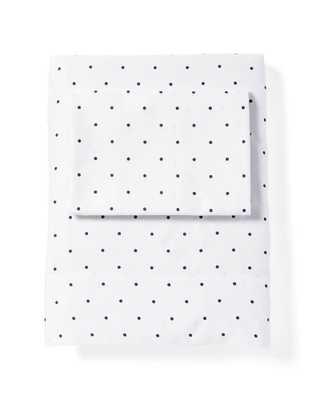 Navy Pin Dot Sheet Set - Domino