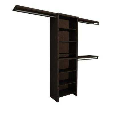 Impressions 5 ft. - 10 ft. Chocolate Basic Closet System - Home Depot