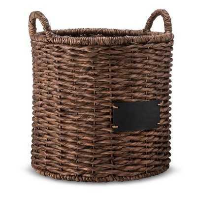 """Round Decorative Basket with Chalkboard - Dark Finish - Smith & Hawkenâ""""¢ - Target"""