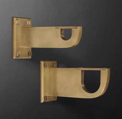 BAYONNE SOLID BRASS END BRACKETS - SOLID LIVE BRASS - RH Modern