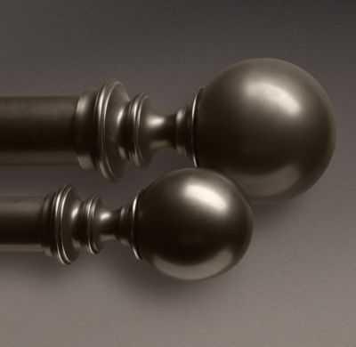 ESTATE METAL BALL FINIALS -  (SET OF 2) - RH