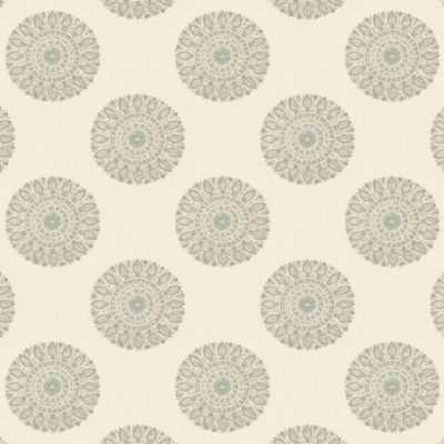 Block print aqua medallion fabric - Loom Decor