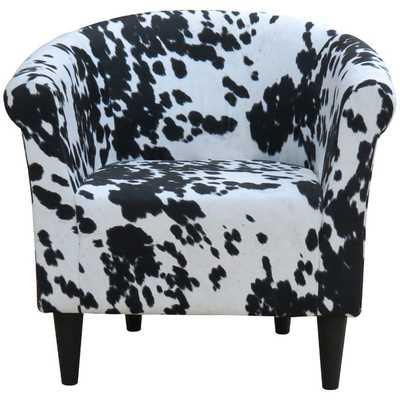 Savannah Cowhide Club Chair - Wayfair