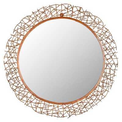 Safavieh Decorative Twig Mirror - Gold - Target