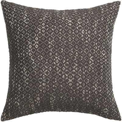 "Diamond weave brown 18"" pillow with down-alternative insert - CB2"