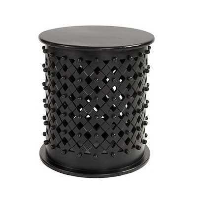 Bornova Side Table-Brown - Ballard Designs