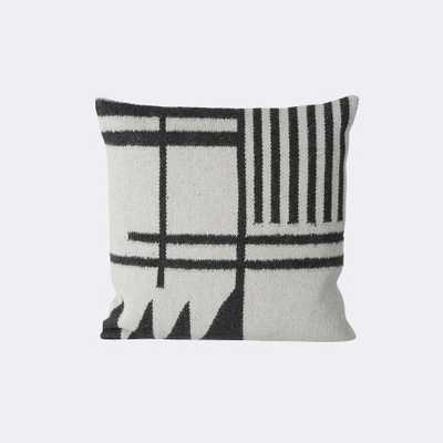 KELIM CUSHION - BLACK LINES - 50 x 50 cm - Feather and down fill - FermLiving