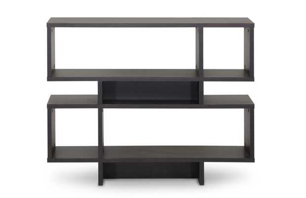 Baxton Studio Cassidy 4-Level Dark Brown Modern Bookshelf - Lark Interiors