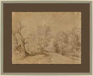 """Sepia Landscape-21'25"""" x 17'25""""-Framed - One Kings Lane"""