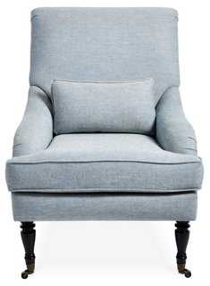 Oxford Chair, Blue/Ivory Woven - One Kings Lane