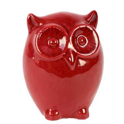 Ceramic Owl LG Red - Small - AllModern