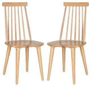 Natural Flynn Side Chair, Pair - One Kings Lane