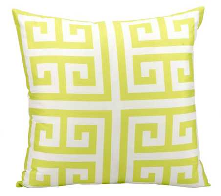 """Outdoor Pillow - Lime - Polyester fill - 20"""" x 20"""" - Domino"""