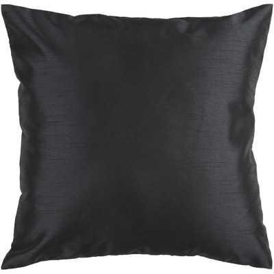 "Amelia Solid Luxe Throw Pillow-18"" x 18""-Black-Insert - Wayfair"