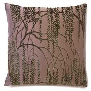 Willow 16x16 Silk-Blend Pillow, Iris-down/feather insert - One Kings Lane