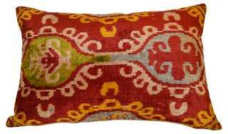 Clarine 16x24 Silk Pillow, Red - One Kings Lane