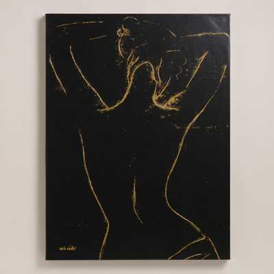 """The Silhouette"" by Mila Vallet -30""W x 40""H, 8.33 lbs.- Unframed - World Market/Cost Plus"