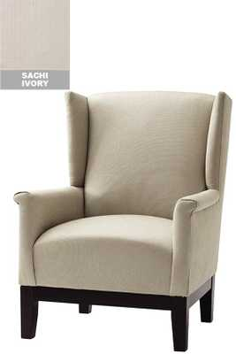 CUSTOM AMY WINGBACK CHAIR - Sachi Ivory - Home Decorators