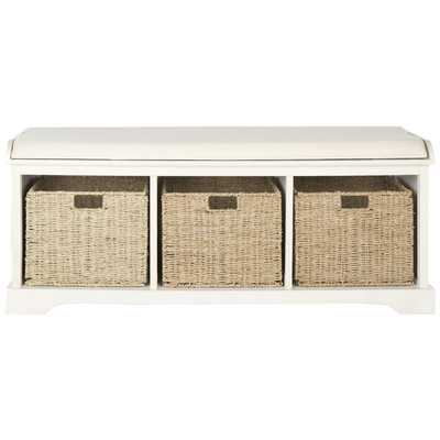 Seminole Wood Storage Hallway Bench - Wayfair