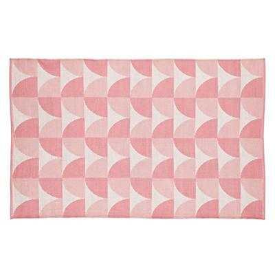 4 x 6' Pink Semi Scallop Rug - Land of Nod