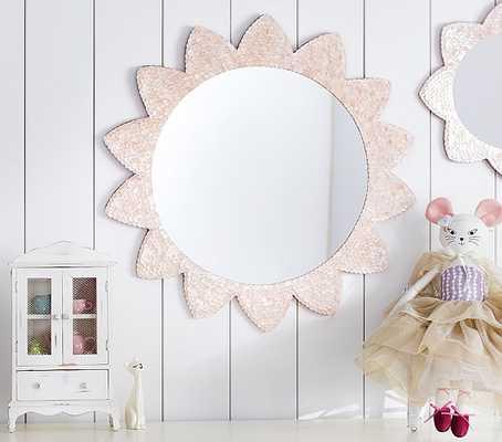 Large Pink Sunflower Capiz Mirror - Pottery Barn Kids
