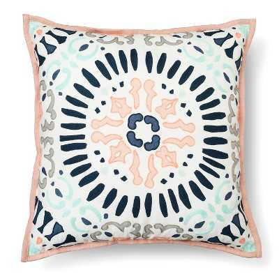 Medallion Decorative Pillow Square Multicolor/18''SQ- Polyester fill insert - Target
