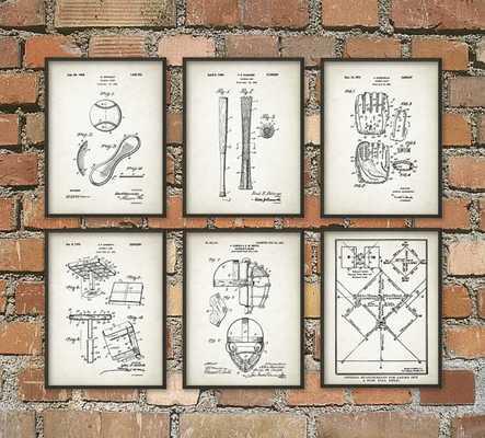 """Baseball Patent Wall Art Poster - 11"""" x 14"""" - Etsy"""