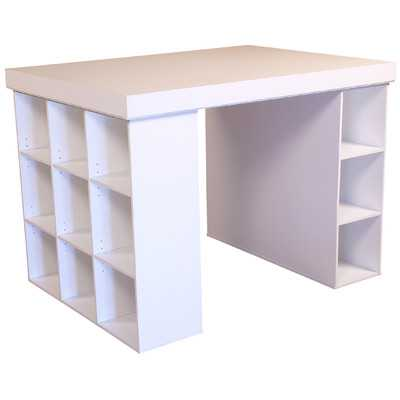 Project Center Writing Desk with Bookcase and 3 Bin Cabinet - Wayfair