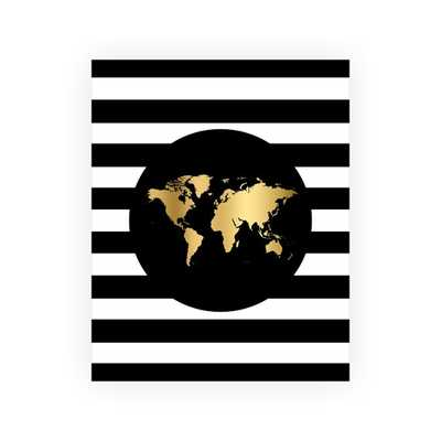 World Map Gold Art Print - Etsy