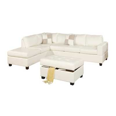 Bobkona Reversible Chaise Sectional - Wayfair