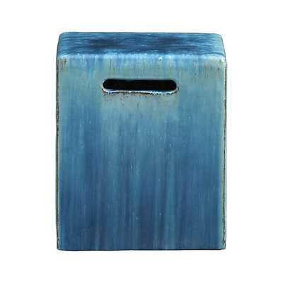 Carilo Blue Garden Stool - Crate and Barrel