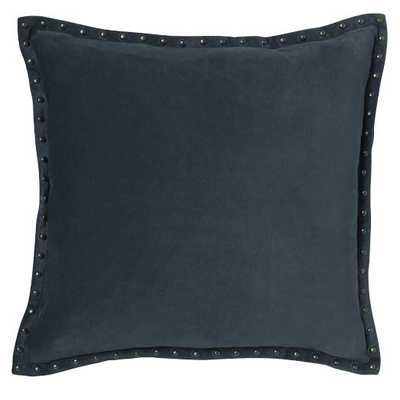 "Studded Velvet Pillow Cover - Regal Blue (20"" Sq.) - West Elm"