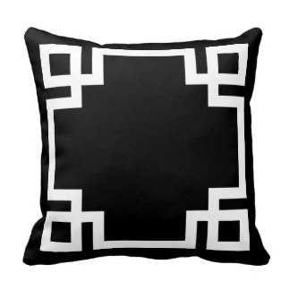 Black and White Greek Key Pillow - zazzle.com