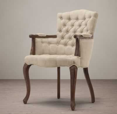 19TH C. FRENCH VICTORIAN TUFTED CAMELBACK ARMCHAIR - RH