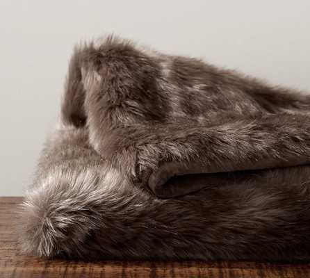 FAUX FUR THROW - SUN BEAR, BROWN - Pottery Barn