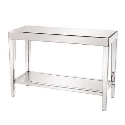 Allan Andrews Mirrored Console Table with Bottom Shelf - Overstock