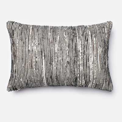 "Black Lumbar Pillow - 13"" H x 21"" W - Insert Included - Wayfair"