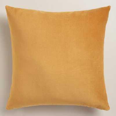 Amber Gold Velvet Throw Pillow - World Market/Cost Plus