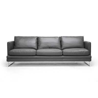 Baxton Studio Dakota Leather Sofa by Wholesale Interiors - Wayfair