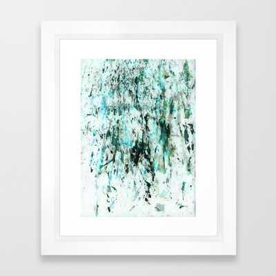 "Green texture - 10"" X 12"" - Framed - Society6"