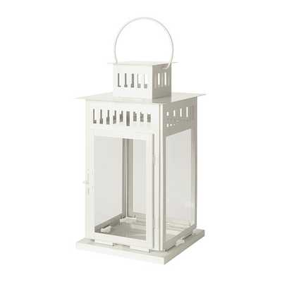 BORRBY Lantern for block candle, white - Ikea