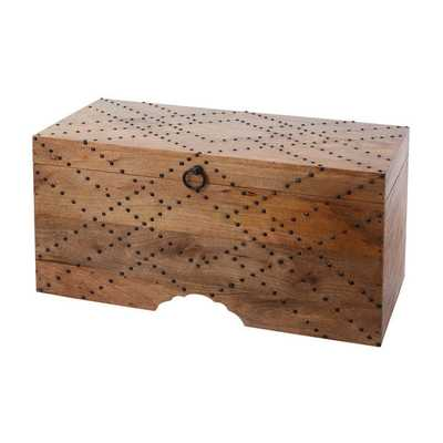 LS Dimond Home Plaid Nail Head Chest - Overstock