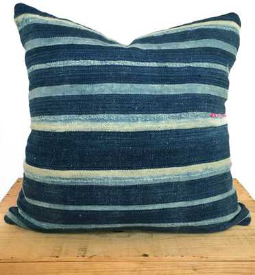 """18"""" Inch Striped Indigo Vintage African Mud Cloth Pillow Cover - Etsy"""