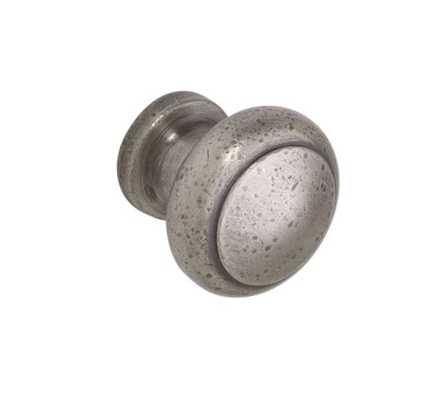 Pitted Round Knob - VINTAGE PEWTER - Pottery Barn