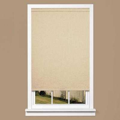 Natural Linen-Look Thermal Fabric Cordless Roller Shade - Home Depot